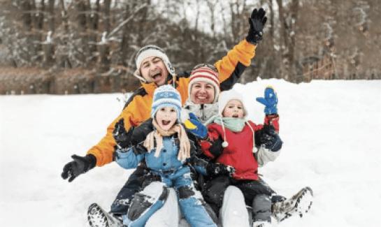 winter family weekend fun at Audubon Center