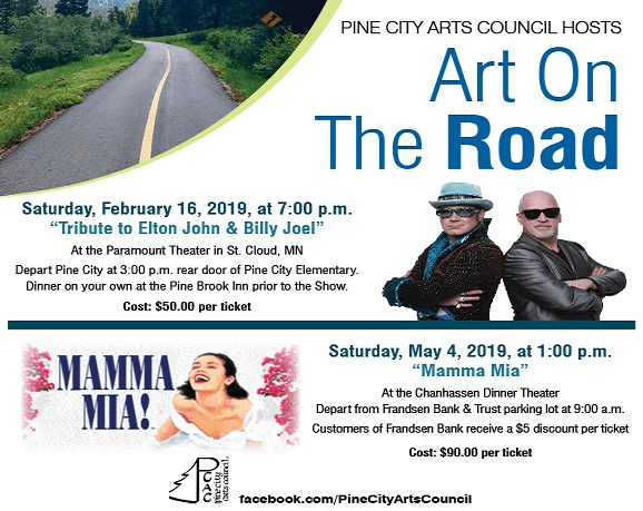 Art on the Road with Pine City Arts Council