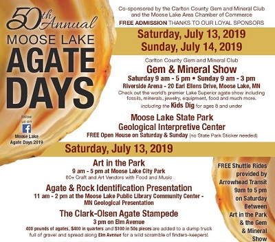 Moose Lake Agate Days poster image