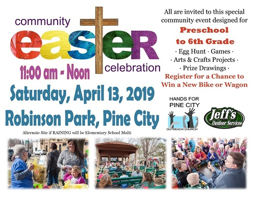 Easter Celebration events in Pine City MN