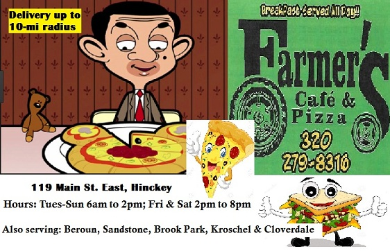 Firestorm Cafe now Farmer's Pizza & Cafe Hinckley MN