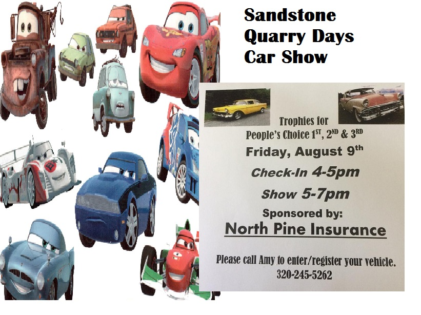 Sandstone MN Car Show 2019 in Quarry Days