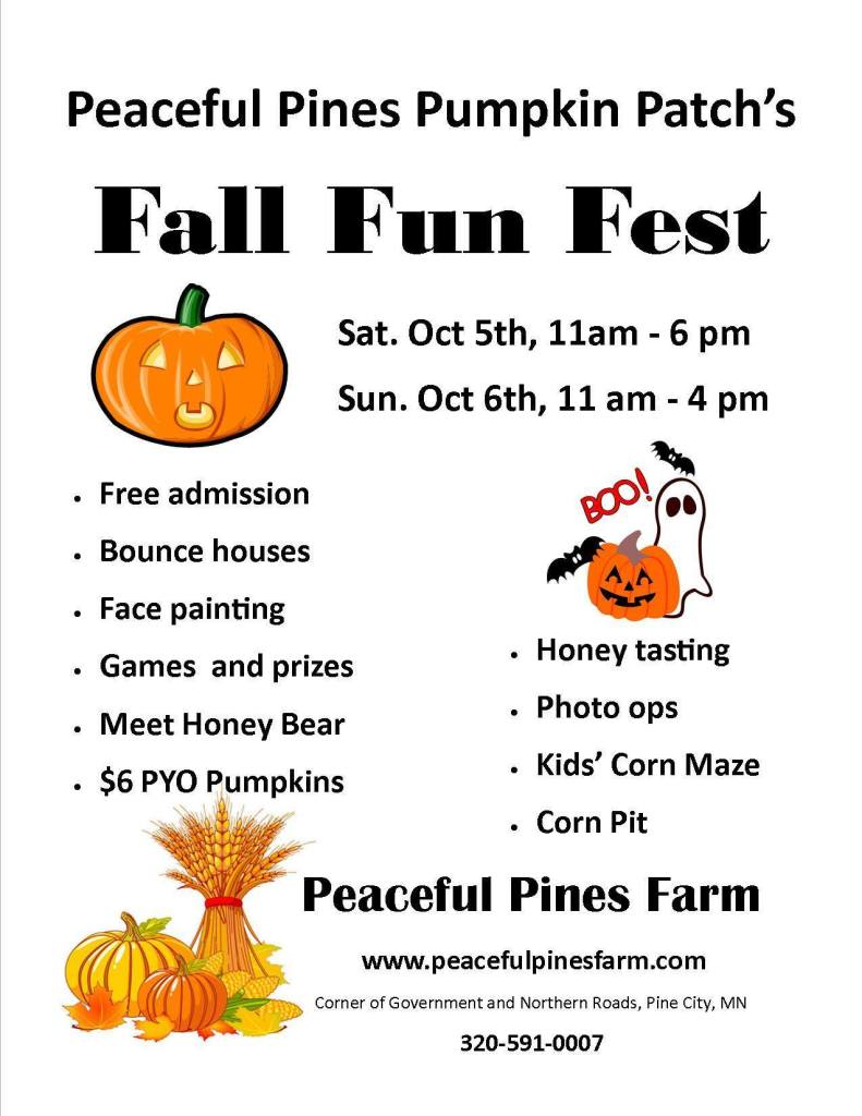 Fall Fun Fest Pine City Peaceful Pines Farm MN