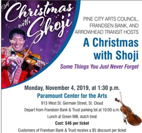 Pine City Arts Council Christmas with Shoji