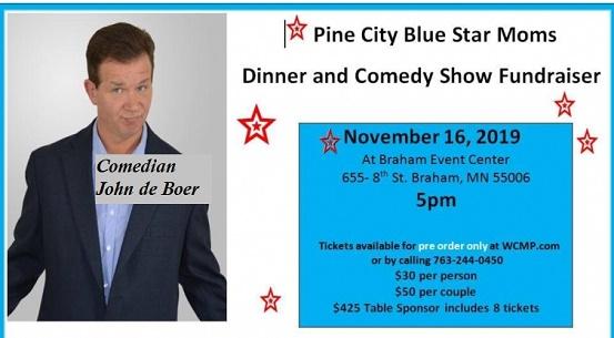 Pine City Blue Star Moms Comedy Fundraiser