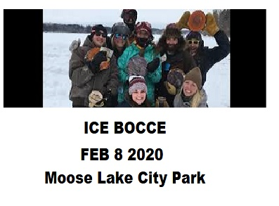 Ice bocce 2020 at Moose Lake City Park