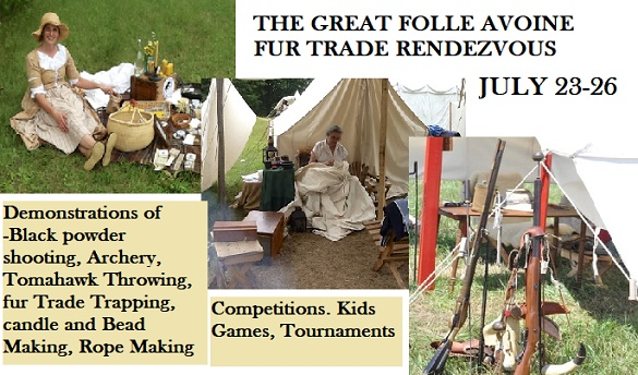 Fur Trade Rendezvous at Fort Folle Avoine