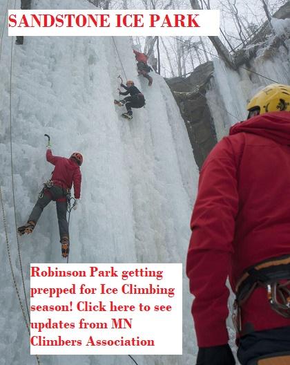 Sandstone, Ice climbing, Robinson Park, MN