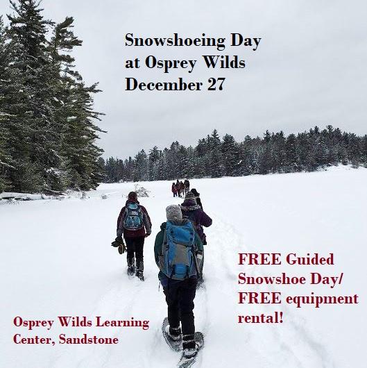 snowshoe, winter, skiing, Osprey Wilds, Sandstone
