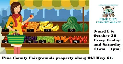 farmers, market, pine city, mn