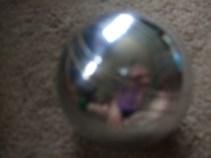 Silver stripy boule