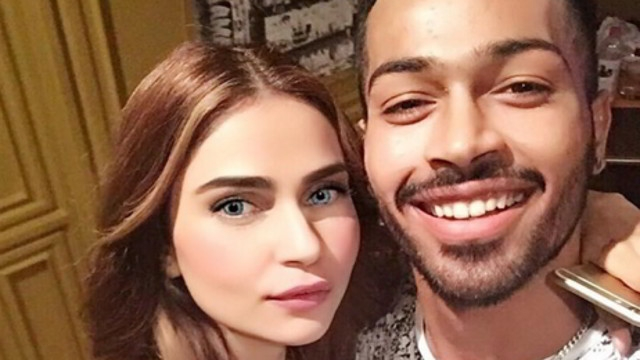 Girlfriend Lisha Sharma And Hardik Pandya