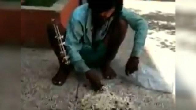 रिम्स में मरीज को नहीं मिला खाना तो कबूतर का दाना खाकर मिटाई भूख, देखें VIDEO