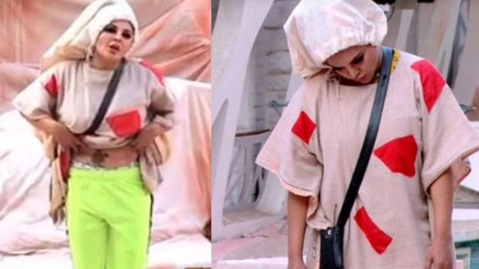 Bigg Boss 14 Updates: Arshi Khan blocked toilet area as per Bigg Boss lockout task after which Rakhi Sawat peed in her pants.
