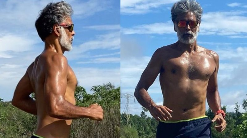 Milind Soman was seen running on the road shirtless, people remembered the nude photo