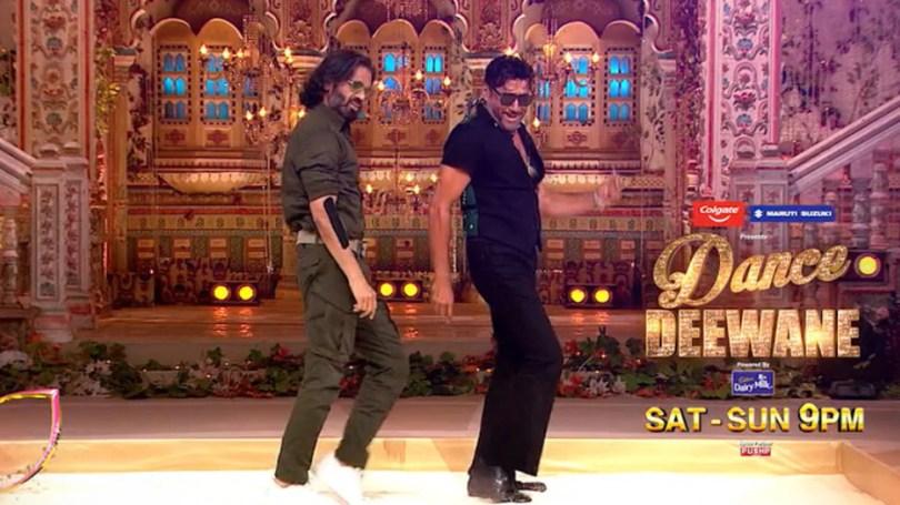 Dance Deewane 3 Suniel Shetty and Jackie Shroff Dancing on Jhanjhariya make fans go Excited |  Suniel Shetty dances with Jackie Shroff on Jhanjharia, but Madhuri's reaction went viral