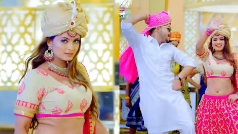 Ankush Raja, Neelam Giri's song 'Kamar Lapkua' made people crazy |  Ankush Raja and Neelam Giri's 'Kamar Lapkua' rocked, VIDEO will start dancing