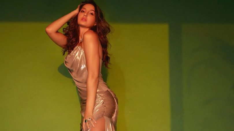 Nora Fatehi Recent Glamorous Look leave you Awestruck   Seeing the glamorous style of Nora Fatehi, people lost their sweat, the cut of the dress increased the heat