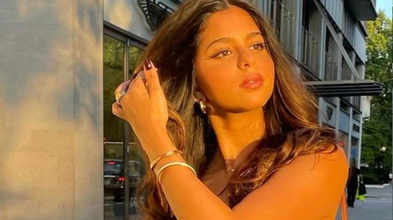 Shanaya Kapoor and Navya Naveli Nanda react on Shah Rukh Khan's daughter Suhana Khan Gorgeous Sunkissed Look |  Shanaya Kapoor and Navya Naveli Nanda stunned by Suhana Khan's golden look