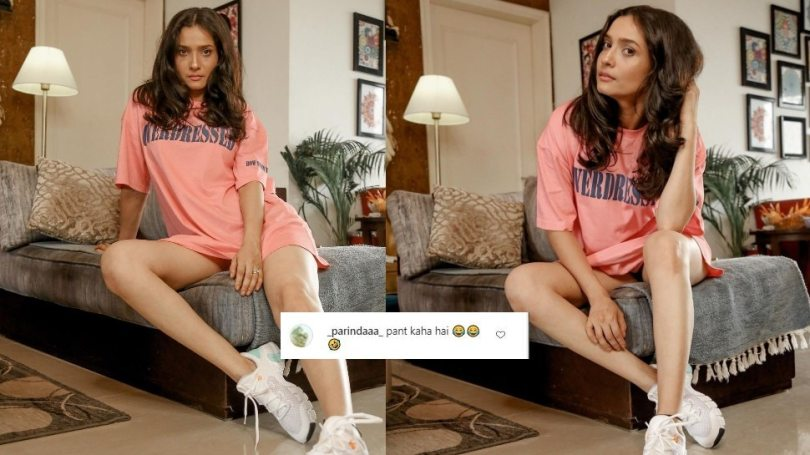 sushant singh rajput ex Ankita Lokhande Shares photos in T shirt fans ask where is the pant |  Ankita Lokhande only shared photos in T-Shirt, people started asking – where are the pants?