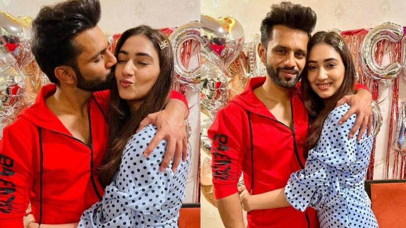 Rahul Vaidya Disha Parmar bed time cozy photo viral found kissing in bed    Rahul Vaidya – Disha Parmar's Koji Photo Viral, was seen kissing while lying on the bed