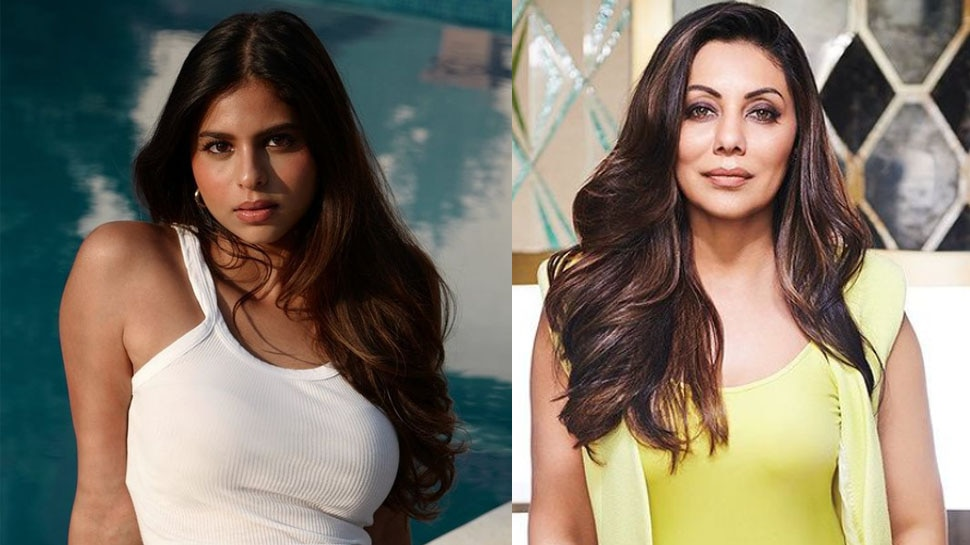 Gauri Khan Birthday: Suhana Khan wishing Birthday to Mother Gauri Khan on Social Media with Romantic Picture of SRK |  Suhana Khan wished her mother by sharing a romantic photo, wrote an emotional post