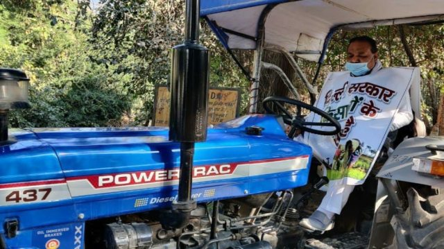 MLA brought tractor to Delhi Assembly special session
