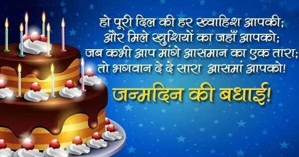 जन्मदिन की शुभकामनाएं 2019 | Happy Birthday Wishes in Hindi
