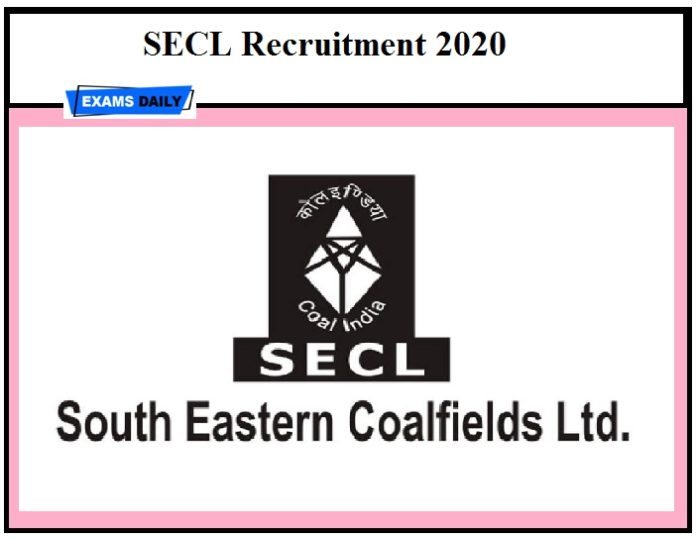 SECL Recruitment 2020 – Last Date to Apply for Staff Nurse & Other Vacancies