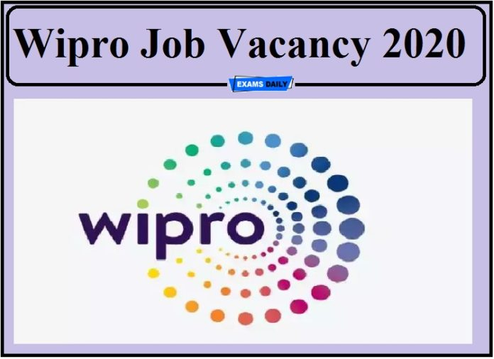 Wipro Job Vacancy 2020 Out- Apply for Now!!!