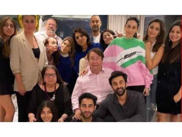 Neetu Kapoor and Kapoor Family