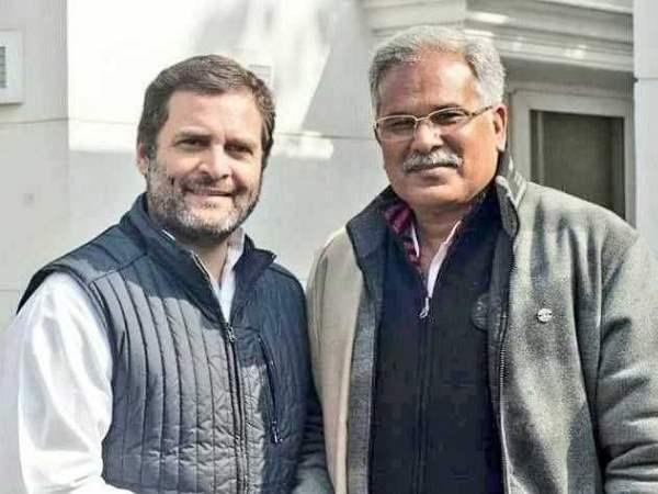 Image result for bhupesh baghel rahul gandhi