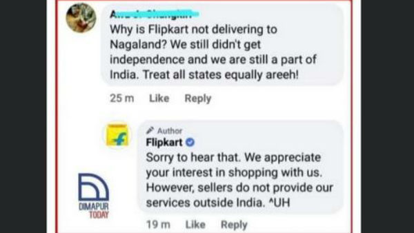 E commerce Company Flipkart trolled after it tells customer in Nagaland that it doesnt deliver outside India