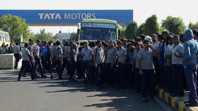 tata-motors-workers-strike-sanand-gujarat