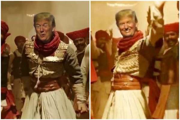 Donald trump dancing to Ranveer Singh's Malhari