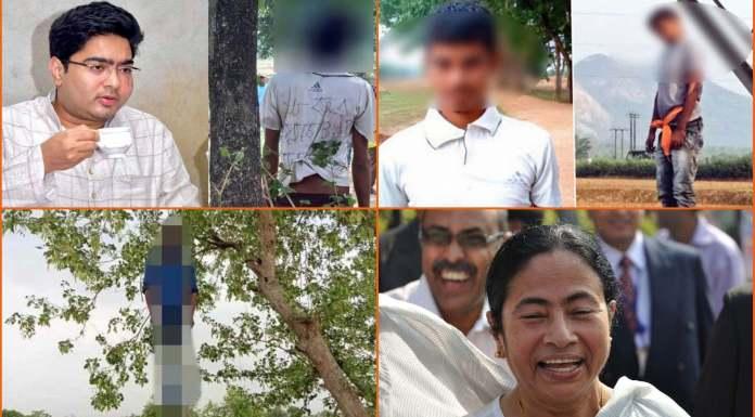 ममता के बंगाल में मरे भाजपाइयों की लटकती लाशें
