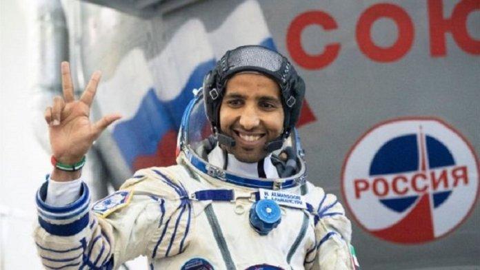 हज़्ज़ा अल मंसूरी, संयुक्त अरब अमीरात के पहले अंतरिक्ष यात्री ( News18 से साभार चित्र)