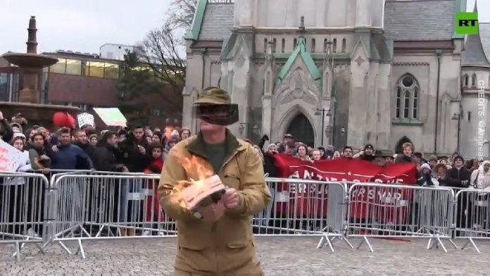 कुरान जलाया