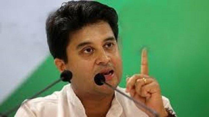 कॉन्ग्रेस नेता ज्योतिरादित्य सिंधिया (फोटो साभार- इंडिया टीवी))