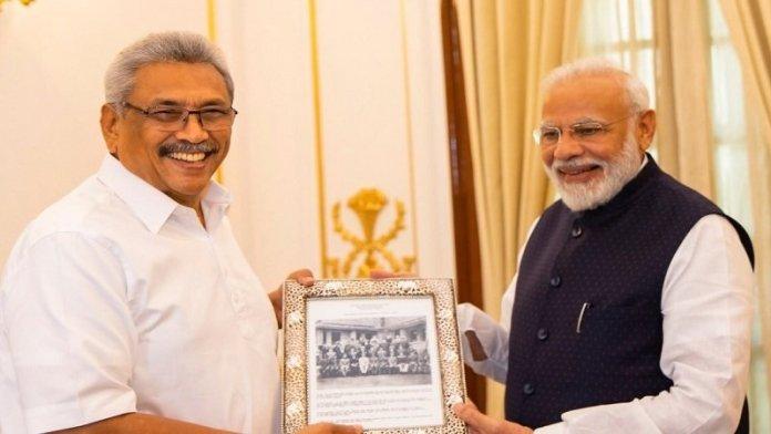 गोटाभाया राजपक्षे, नरेंद्र मोदी