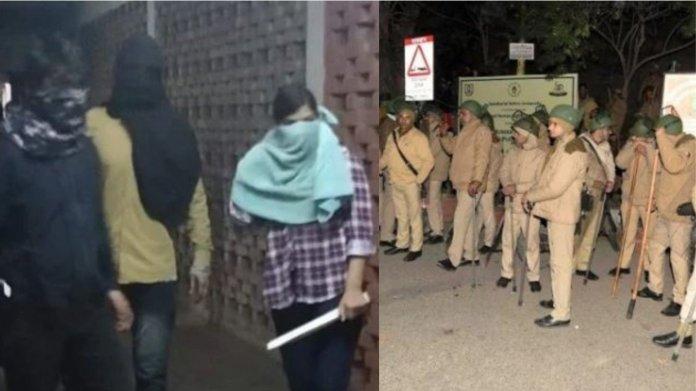 दिल्ली पुलिस. हिंसा, जेएनयू