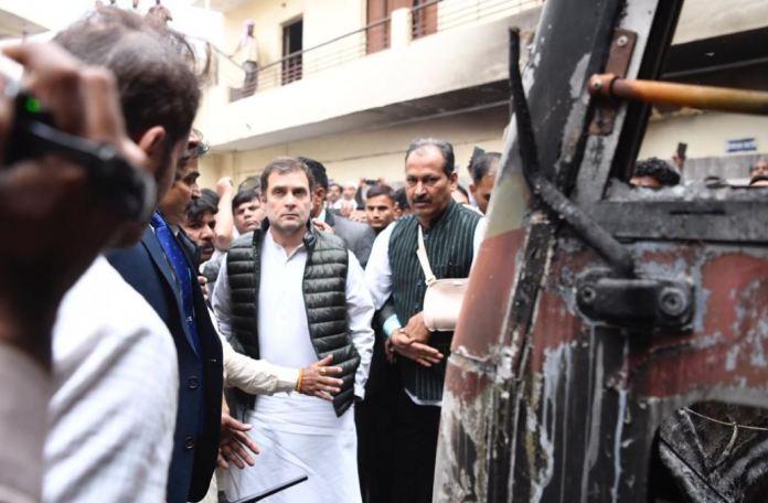 राहुल गाँधी, दिल्ली दंगा