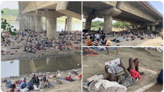 लॉकडाउन में दिल्ली के प्रवासी श्रमिक बेहाल