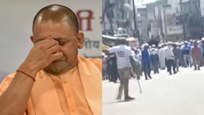 मालेगाँव भीड़, महाराष्ट्र पुलिस योगी आदित्यनाथ