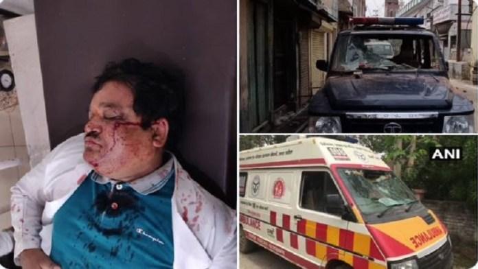 मुरादाबाद, मेडिकल और पुलिस टीम पर हमला