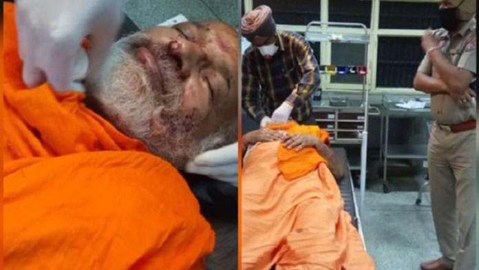 पंजाब में स्वामी पुष्पेंद्र पर हमला