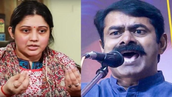 विजयलक्ष्मी, सीमन, NTK