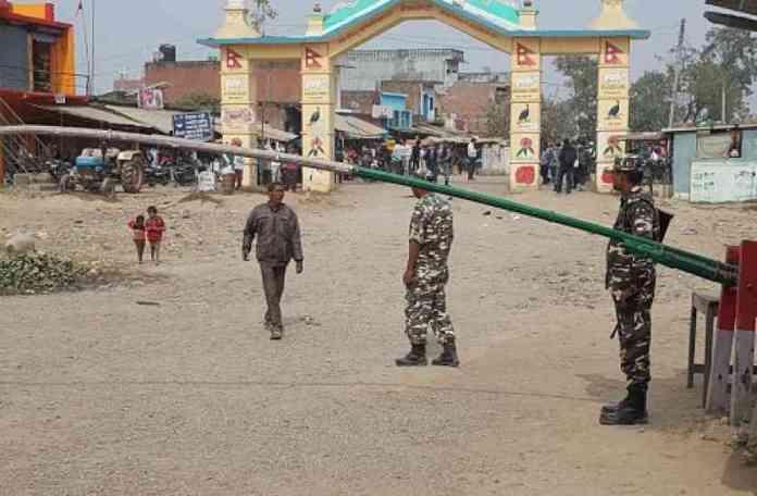 भारत नेपाल सीमा पर तनाव