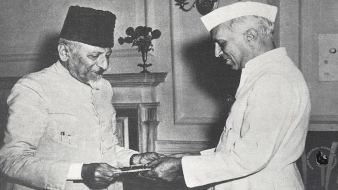 नेहरू के साथ मौलाना आजाद