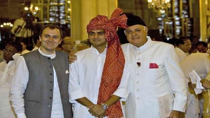 फारूक और उमर अब्दुल्ला के साथ सचिन पायलट